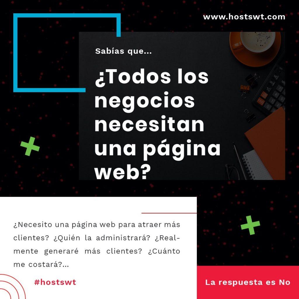 Necesidad de una página web