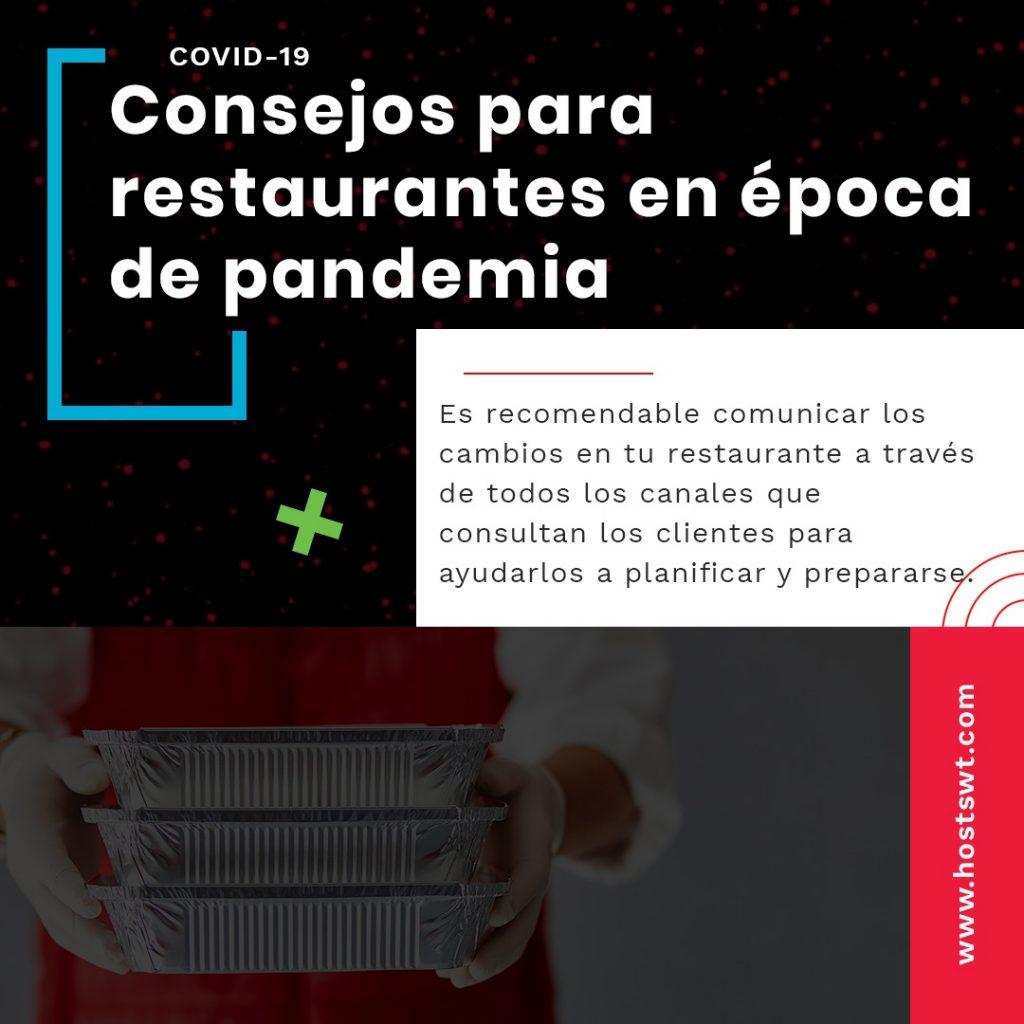 Dificultad para restaurantes en época de pandemia