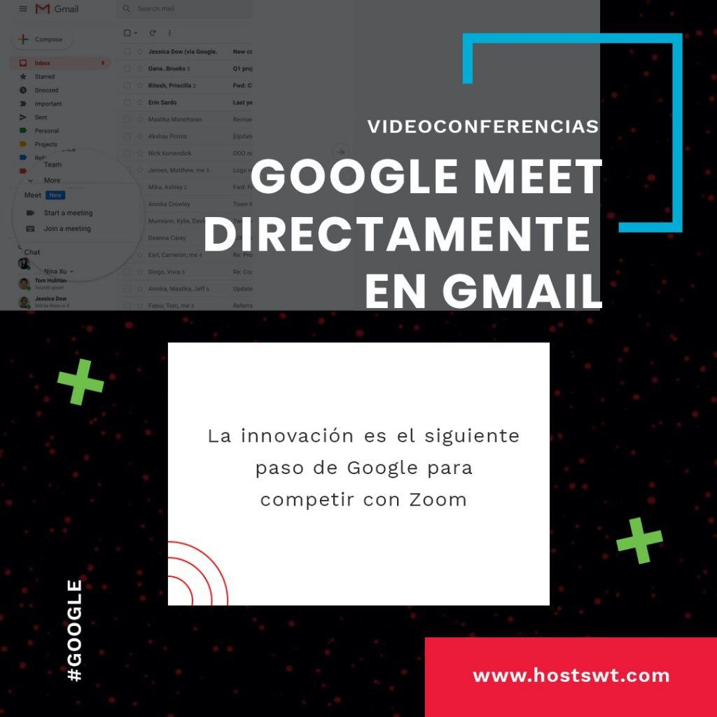 Google meet ahora en gmail