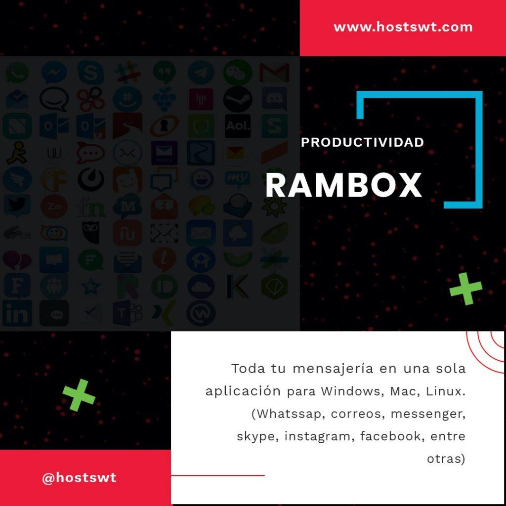 Rambox un servicio recomendado por Hostswt